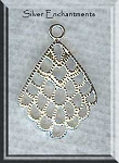 Sterling Silver Filigree Scallop Chandelier Earring Findings, PAIR 2-pc