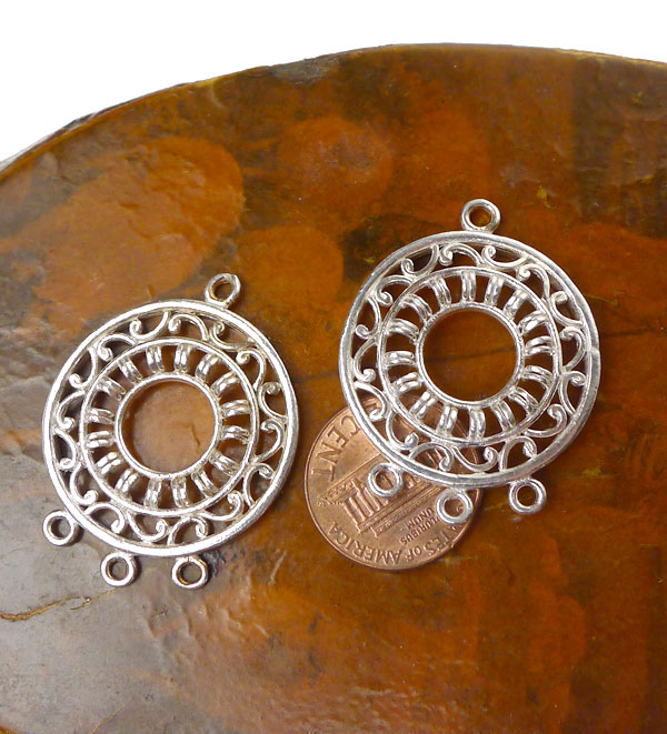 Sterling Silver Jewelry Findings, 28mm Dangler Pendants or ...