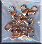 Copper Lobster Clasps 12mm (10)