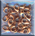 Copper Lobster Clasp, 15mm x 8mm (1)
