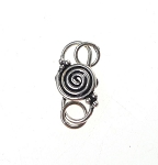 Sterling Silver Jewelry Clasps, S-Hook Clasp with Spiral Motif, Celtic Spiral S-Hook Jewelry Clasp with Rings (1)