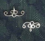 Sterling Silver Filigree Curly Jewelry Finding