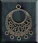 Sterling Silver Fancy Large Double Sided Gypsy Earring Findings, PAIR 2-pc