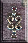 Sterling Silver Double Infinity Chandelier Components Jewelry Link Findings, PAIR 2-pc