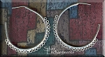 Large Sterling Silver 25 Dangles Hoop Chandelier Earrings, PAIR 2-pc