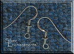 Sterling Silver Earring Hooks with Coil and Daisy Accent, 5-Pair Bag