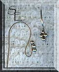 Sterling Silver 4-Ball Top Accent Ear Wires, Pair