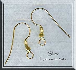 SOLDOUT - Vermeil Ear Wires with Ball and Coil, Pair
