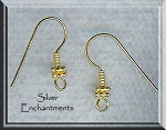 Vermeil Double Daisy Earring Hooks, 22k Gold over Sterling Silver Ear Wires, 5-Pairs
