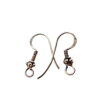 Sterling Silver Earwires with Bali Bead Accent, 5-Pair Bag