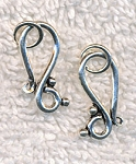 Sterling Silver J-Hook Clasp with Ring Jewelry Closure Finding