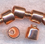 Solid Copper End Caps with 5.5mm Opening (10)