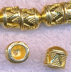 Multi-Strand Jewelry End-Caps with 5mm Opening, Gold Plated Copper (2)