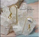 SOLDOUT - Vermeil French Ear Wires with Coil, Pair