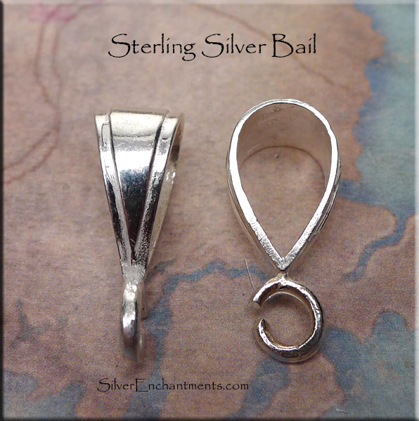 Sterling Silver Bail Large 24x9x11 5mm Large Silver
