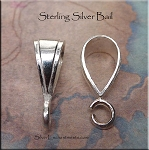 Sterling Silver Bail, Lg