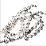 Sterling Silver Plated Spiral Seashell Beads, 14mm Wholesale 20pc