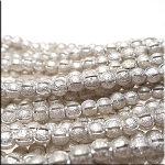Sterling Silver Plated 6mm Ball Beads with Slit, Stardust Finish Wholesale Strand
