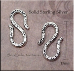 Sterling Silver J Hook and S Hook Findings