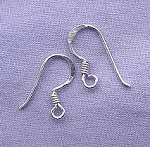 Silver Plated French Ear Hooks with Coil, 20pc, 10pr