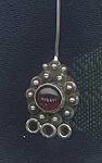 Sterling Silver and Garnet Designer Gemstone Head Pin