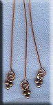 Copper Head Pins With 3-Ball Accent Dangle (10)