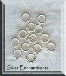 Bright Solid Sterling Silver Jump Rings, 4mm 18-gauge (10)