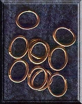Solid Copper Closed Oval Jumprings (10)
