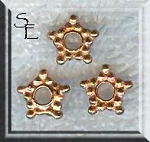Copper 9mm Copper Star Spacer Bead, Solid Copper Jewelry Findings (1)
