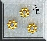Vermeil 5mm Daisy Spacers (10)
