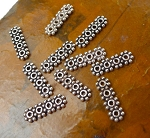 Silver Beading Separator Bars, Sterling Silver 4 Strand Bead Separator Jewelry Findings (10)