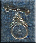 Sterling Silver Victorian Toggle Clasp, Double Sided
