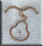 Solid Copper Pear Shaped Toggle with Bent Bar, Real Copper Jewelry Findings (1)