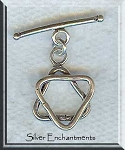 Star of David Toggle Clasp, Sterling Silver, 22x18mm
