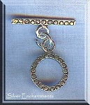 Sterling Silver Round Toggle Clasp with Circles