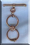 Solid Copper Double Loop Extender Toggle Clasp, Real Copper Findings (1)