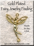 Gold Plated Fairy Jewelry Finding