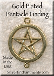 Gold Plated Pentacle Jewelry Finding - CLOSEOUT