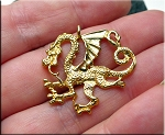 Gold Plated Dragon Charms