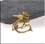 Gold Plated Fire Dragon Charm - CLOSEOUT