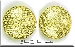 Gold Plated 16mm Patterned Coin Bead