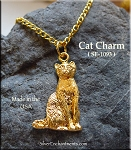 Gold Plated Cat Charm-Pendant