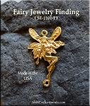 Gold Plated Fairy Jewelry Connector - CLOSEOUT
