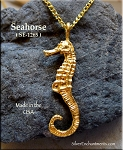22-karat Gold Plated Seahorse Pendant, CLOSEOUT