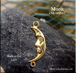 Gold Plated Moon Jewelry Connector - CLOSEOUT
