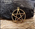 Gold Plated Interwoven Pentacle Pendant - CLOSEOUT