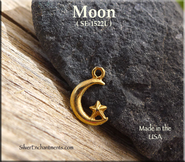 Gold Plated Moon Charm