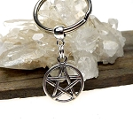 Pentacle Key Ring, Double Sided Pentagram Key Chain, Pagan Wiccan Keychain Key Ring