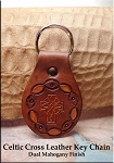 SOLD - Leather Key Fob - Celtic Cross