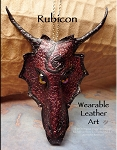 SOLD - Leather Dragon Mask Pendant - RUBICON